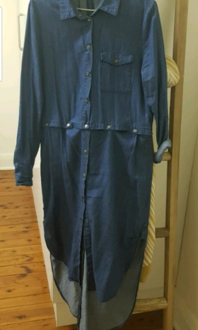 Denim dress/top long sleeve size medium from the fifth label
