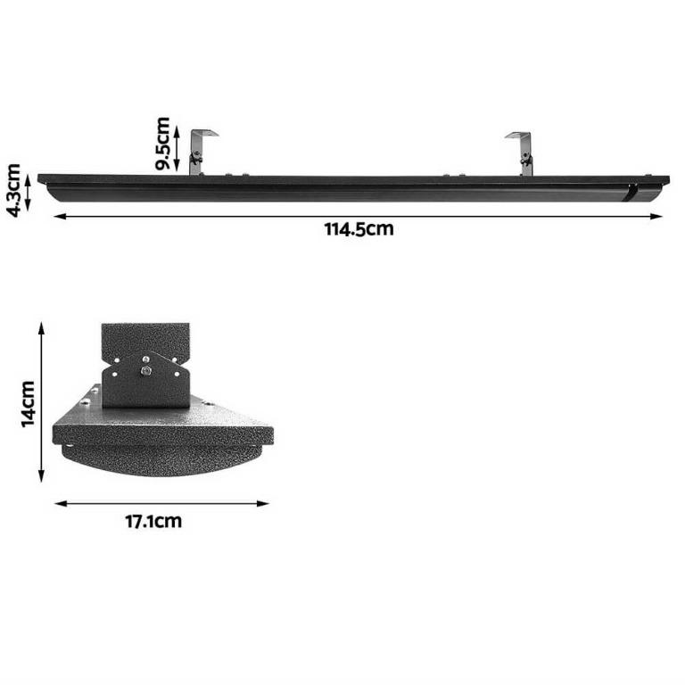 Devanti 2x Electric Radiant Strip Heater Panel Outdoor Heating Heat Bar 1800W