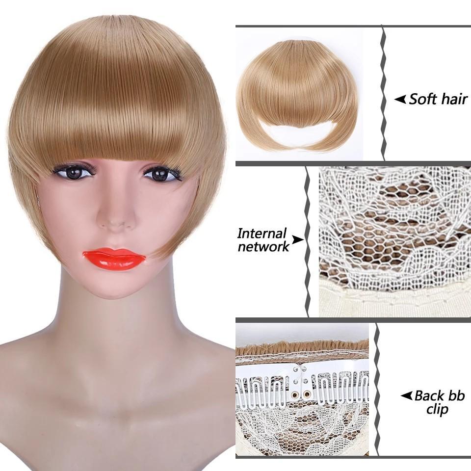 Fake Bangs False Fringe Clip on Fringe Bangs Black Brown Blonde For adult Women Hair Accessories