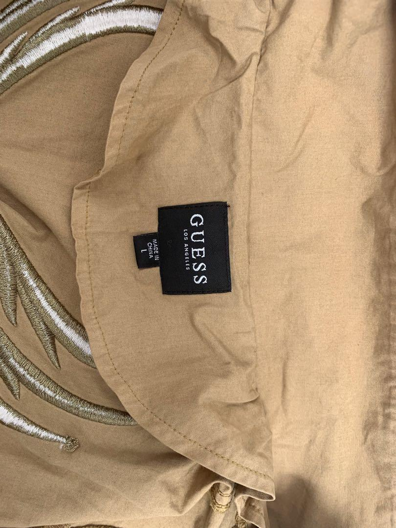 J0021 NWT Guess Men's Boyd Patch Poplin Overall Jumpsuit Large