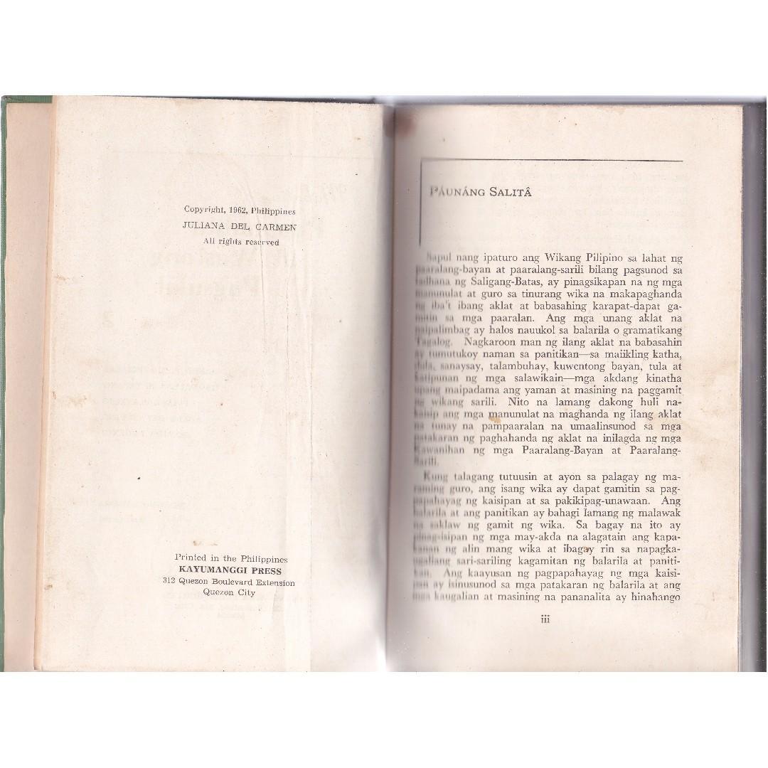 Mabuting Pananalita at Wastong Pagsulat by Gonzales et al 1962