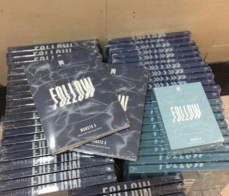 MONSTA X - FOLLOW: FIND YOU CD + POSTER (can choose ver.)