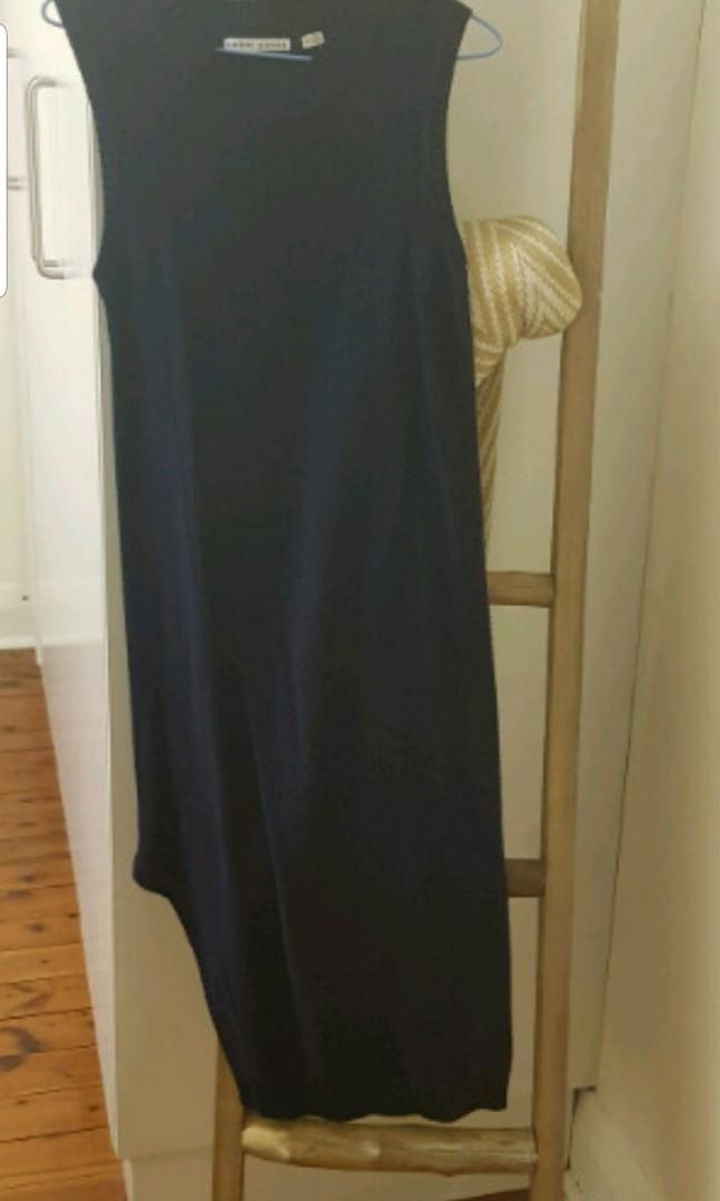 Navy asymmetrical dress size small from finders keepers