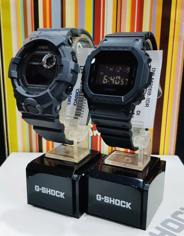 NEW🌟BLUETOOTH COUPLE💝SET : GSHOCK UNISEX DIVER SPORTS WATCH : 100% ORIGINAL AUTHENTIC CASIO BABY-G-SHOCK : DW-5600BB-1 + GBD-800UC-8 / GBD-800-8 + DW-5600-1