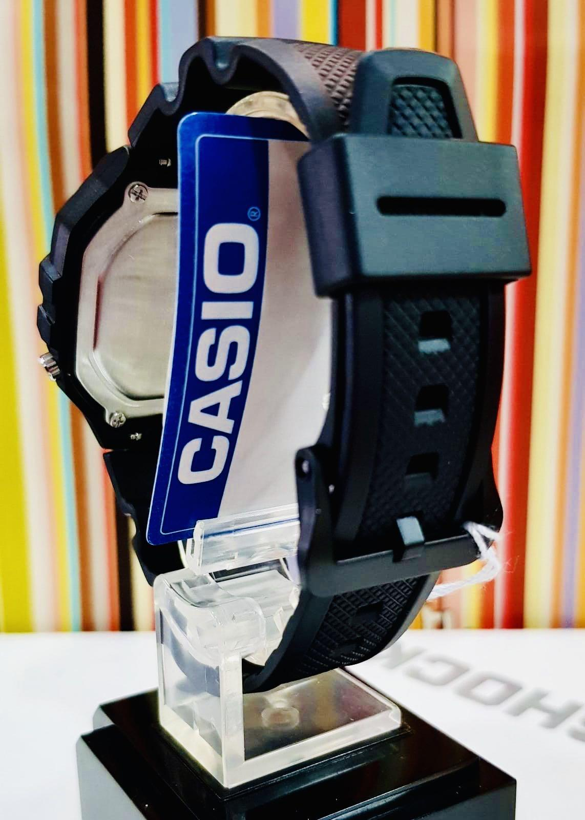 NEW🌟COUPLE💝SET : CASIO UNISEX SPORTS WATCH : 100% ORIGINAL AUTHENTIC : By BABY-G-SHOCK ( GSHOCK ) COMPANY : W-218H-1AV + AQ-S810W-1AV (FULL-BLACK)