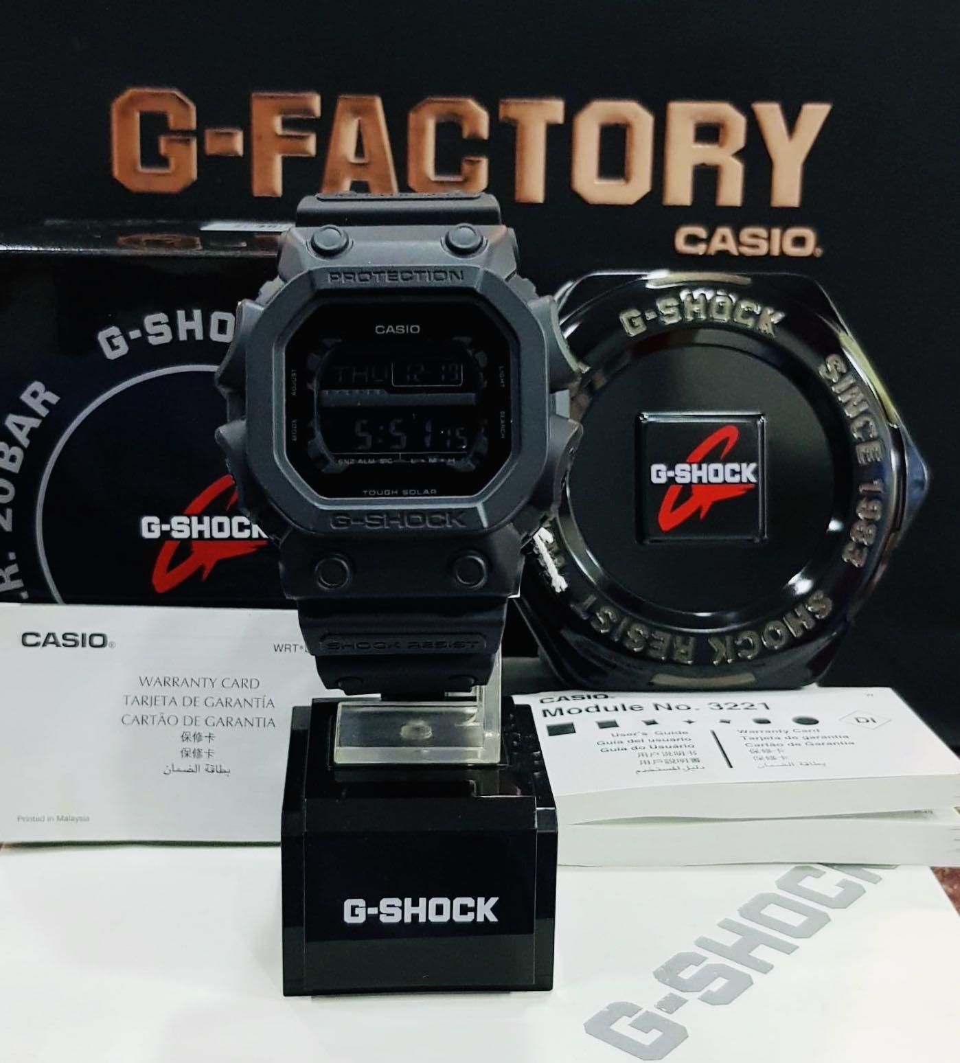 NEW🌟COUPLE💝SET : GSHOCK UNISEX DIVER SPORTS WATCH : 100% ORIGINAL AUTHENTIC CASIO BABY-G-SHOCK : GX-56BB-1DR + DW-5600BB-1DR (FULL-BLACK)