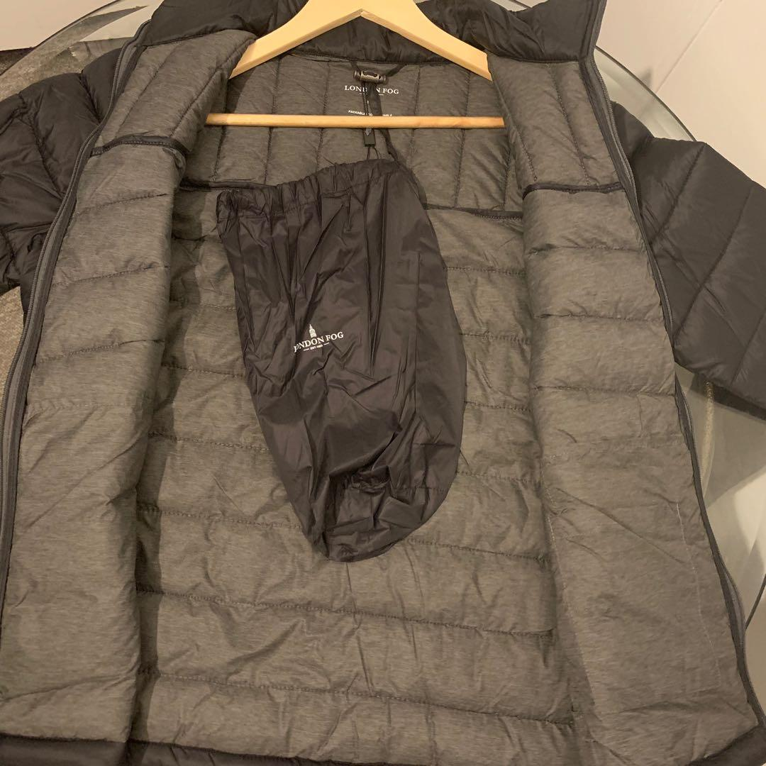NWT London Fog Lightweight Packable Quilted Men's Black Jacket Small