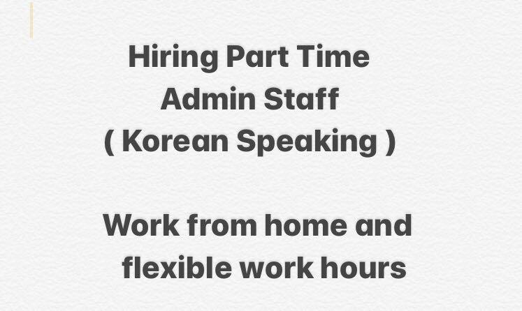 Part time admin staff ( Korean Speaking )
