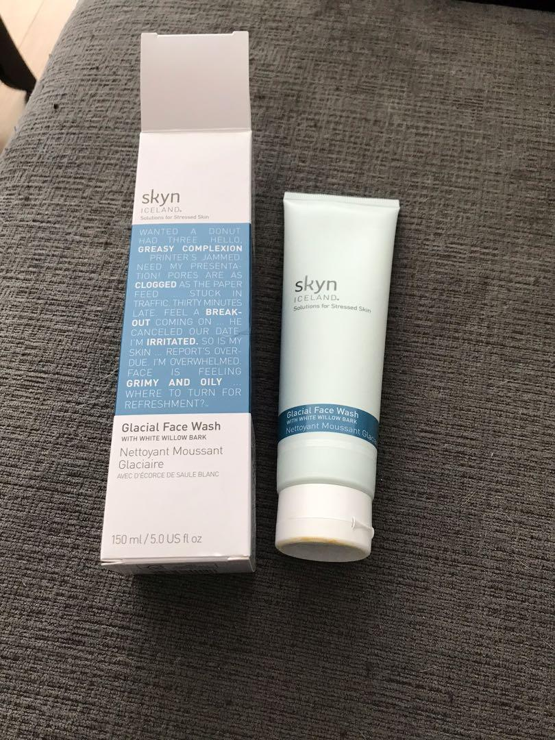 Skyn Iceland Glacial Face Wash Cleanser-New in box