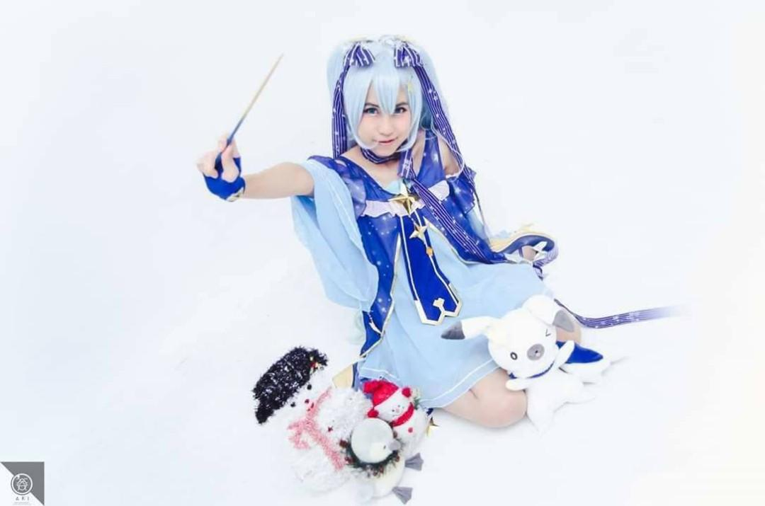 [Sell/Rent] Full set Snow Miku 2017 Vocaloid Twinkle Snow Cosplay