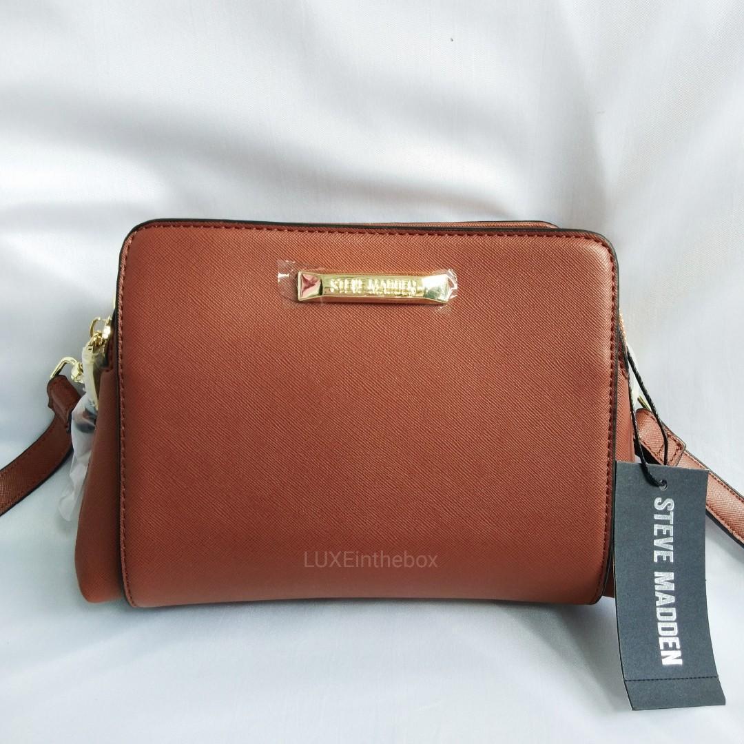 Steve Madden Cognac Sling Bag Authentic