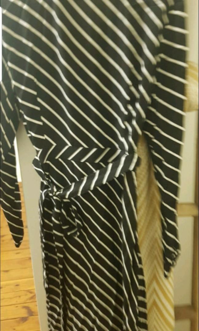 Striped wrap dress size 10 from sportsgirl brand new