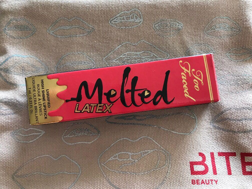 Too Faced Melted Latex Liquified High Shine Lip Gloss 0.23oz/ 7ml New In Box. Rated R