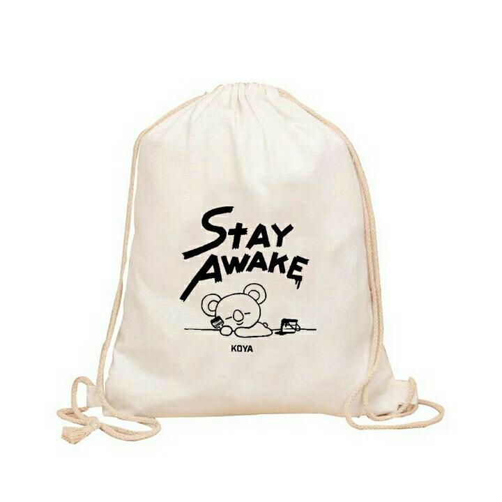 Unofficial BT21 BTS Drawstring Bag Sling Bag Shoulder
