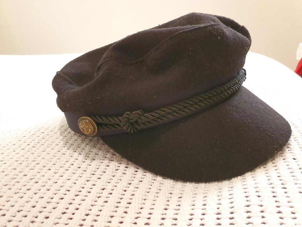 Worn Once My Accessories London ASOS Baker Boy Hat in Black with Gold Buttons