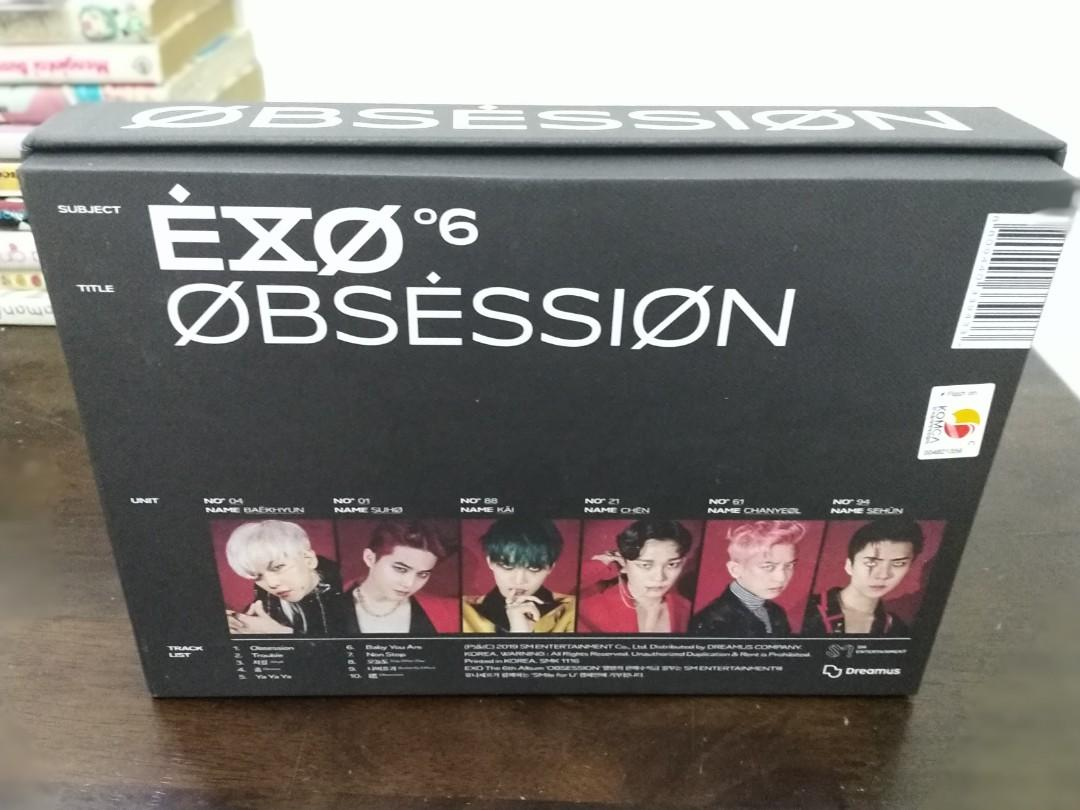(WTS) EXO OBSESSION ALBUM (X-EXO VERSION) | CLEARANCE, NEW,UNSEALED