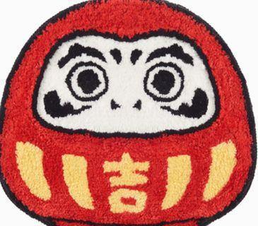 日式風格達摩與鯉魚吸水踏墊臥室浴廁家居用品