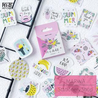 45pcs  Positive Words About Summer Sticker Pack (Mo Card-MC089)