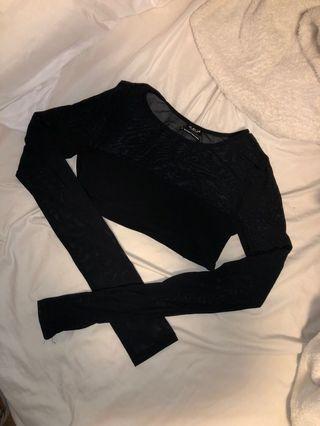 UO mesh cropped shirt