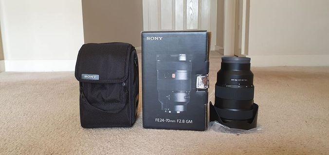 Sony 24-70mm F/2.8 G master (mulus dan komplit)