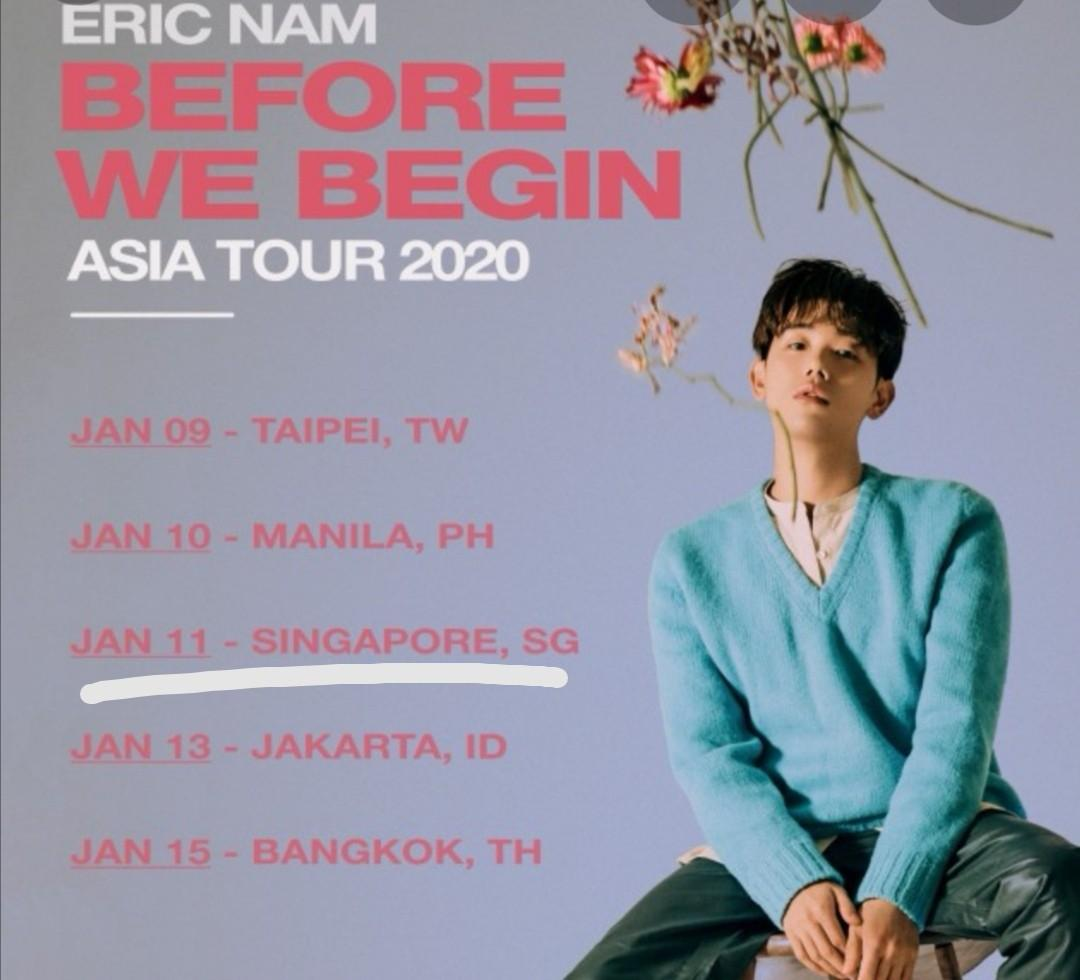3 tickets: 11 JANUARY 2020 SINGAPORE: General Standing