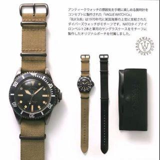 Black Submariner by long established Japan Co.