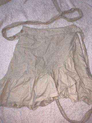 beige glassons wrap skirt