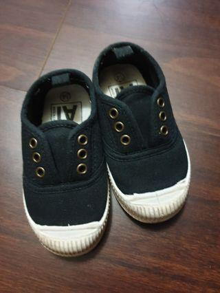 二手男童 鞋 黑色布鞋 14CM