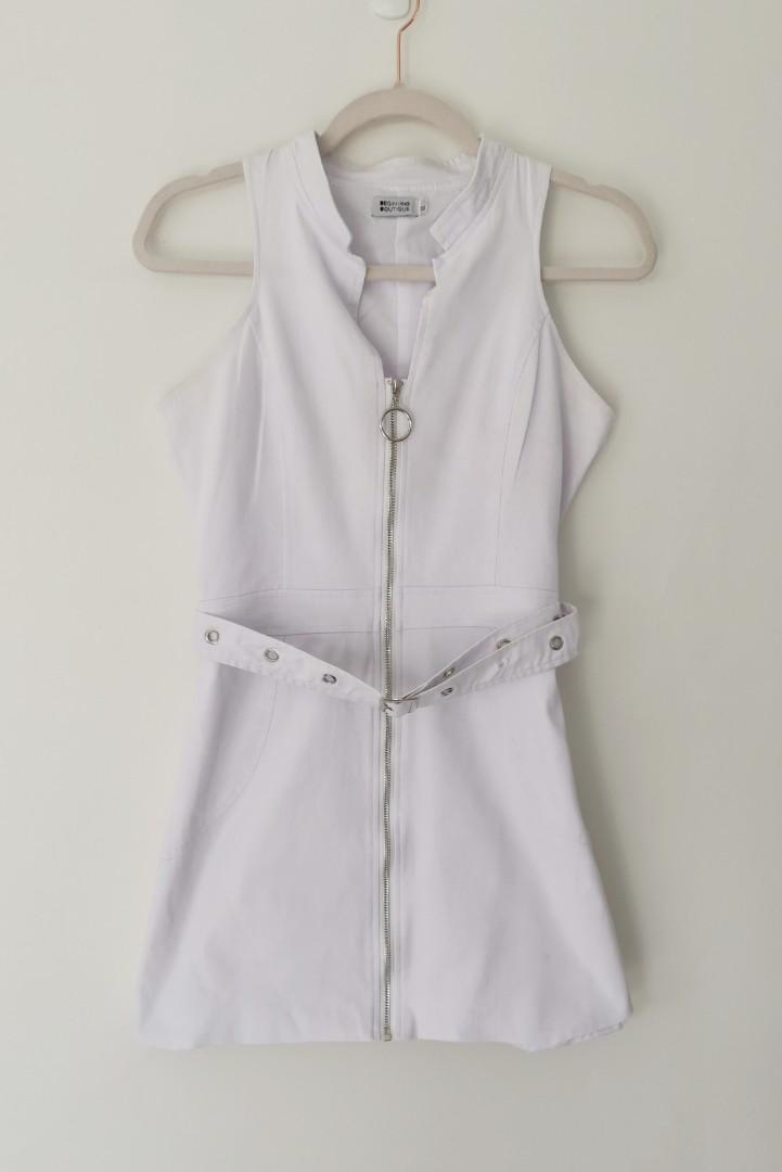 Beginning Boutique Somers Festival Dress in White - Size M RRP $130