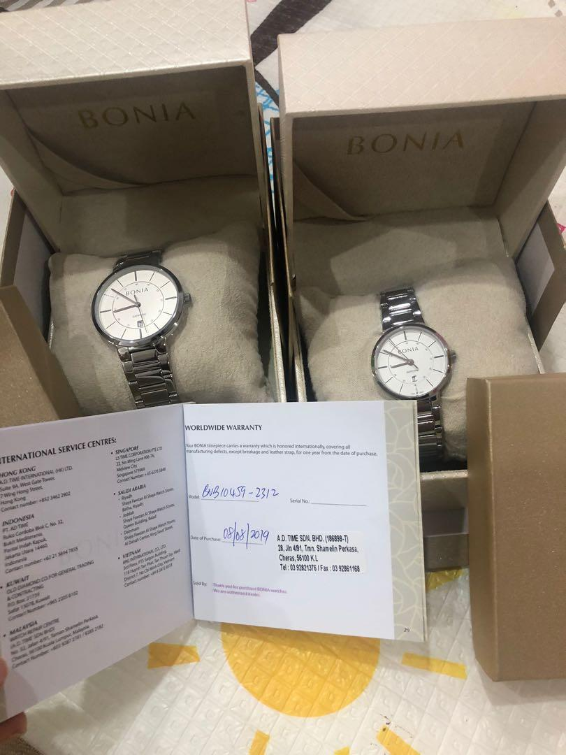 Brand New BONIA Amante Couple Watch (Men and Women Watch) Quartz Stainless Steel Bracelet Watch
