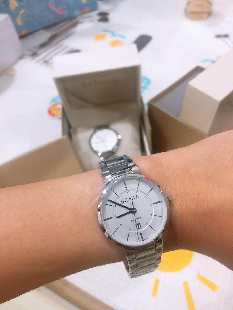 Brand New BONIA Amante Couple Watch (Men and Women Watch) Quartz Stainless Steel Bracelet Watch