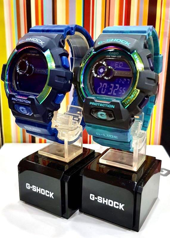 FULLY⛔️RESERVED : NEW🌟COUPLE💝SET : GSHOCK UNISEX DIVER SPORTS WATCH : 100% ORIGINAL AUTHENTIC CASIO G-SHOCK : GLS-8900AR-2 / GLS-8900AR-3 ( SEA SKY BLUE)