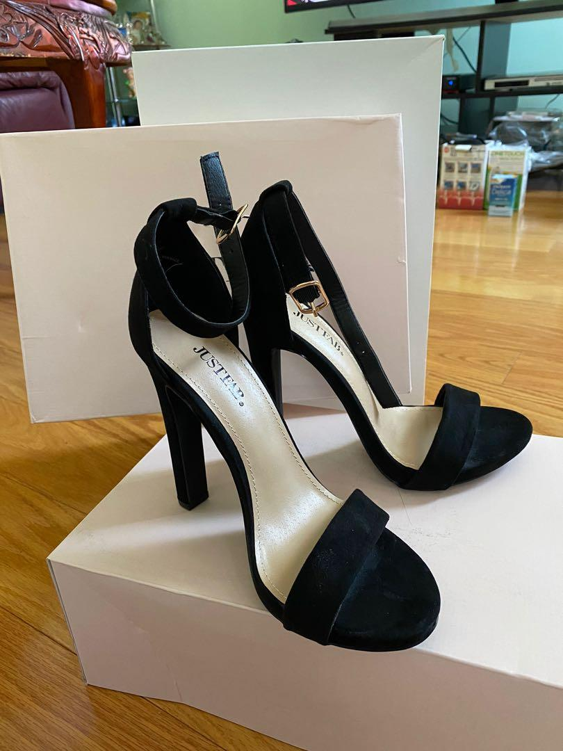 "Just Fab 4.5"" Black Dress Heels size 7 *NEVER WORN*"