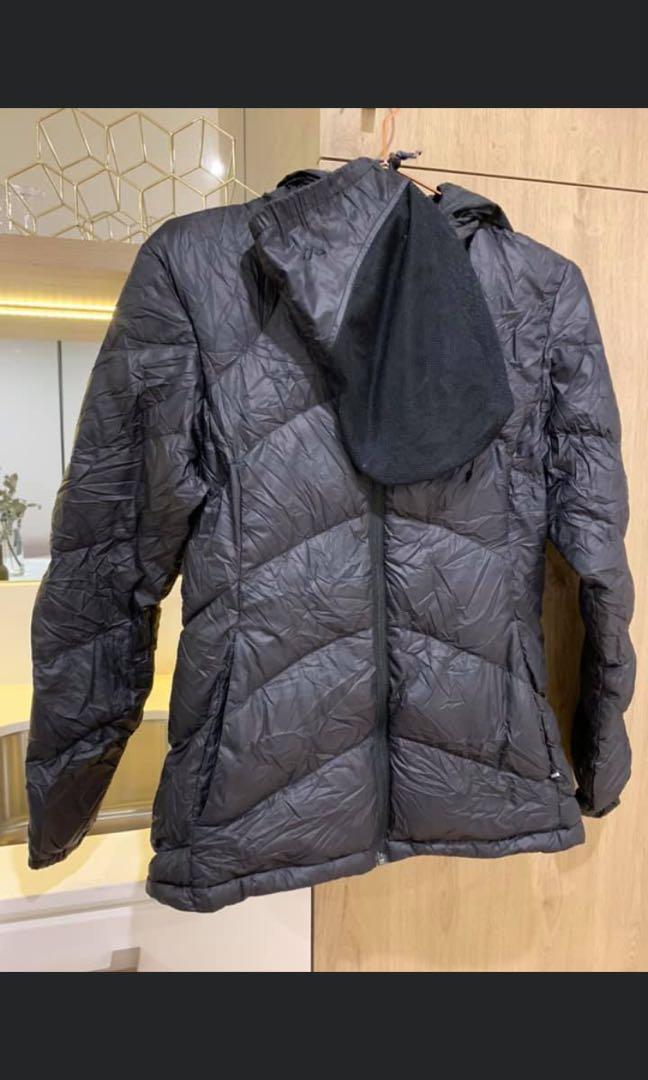 Kathmandu Puffer Jacket Duckdown500 Black Womens Sz8