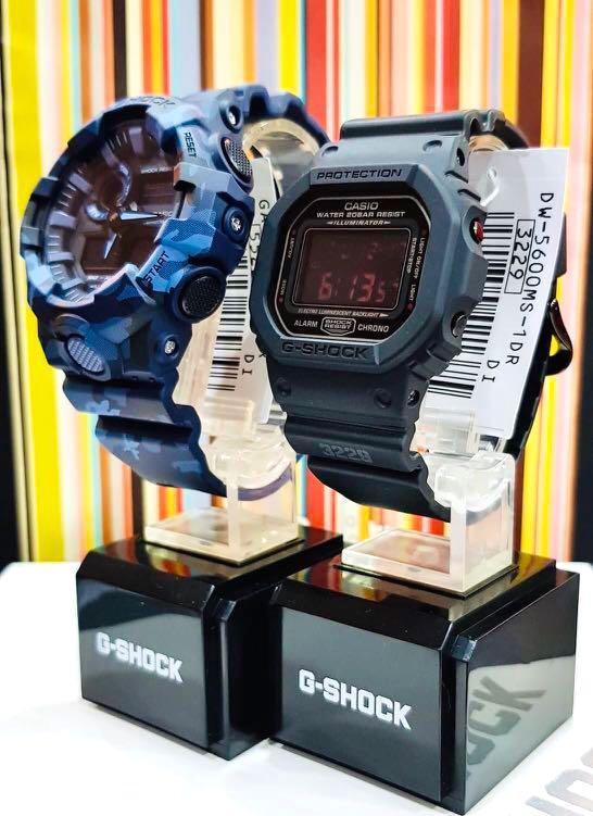 NEW🌟COUPLE💝SET : CASIO BABYG UNISEX SPORTS WATCH : 100% ORIGINAL AUTHENTIC CASIO BABY-G-SHOCK ( GSHOCK ) Company : DW-5600MS-1 + GA-700CM-2A