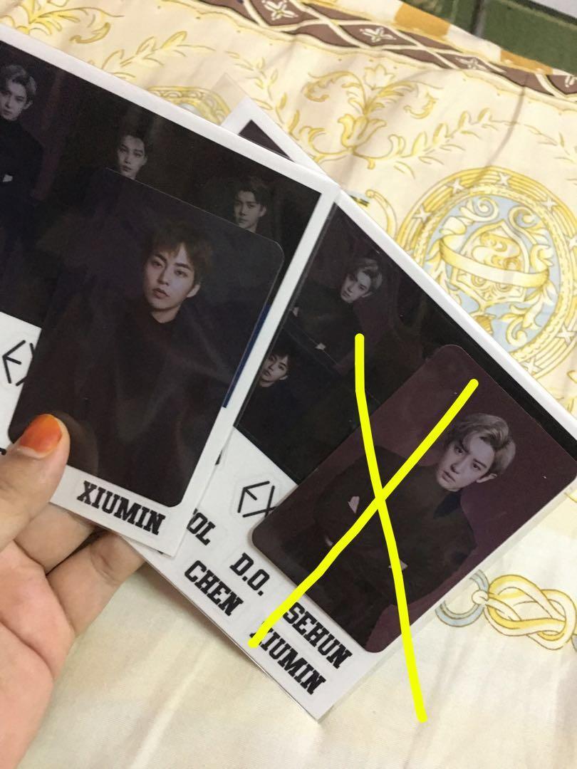 (NO Sticker) EXO LIGHTSTICK 3.0 Official PHOTOCARD xiumin