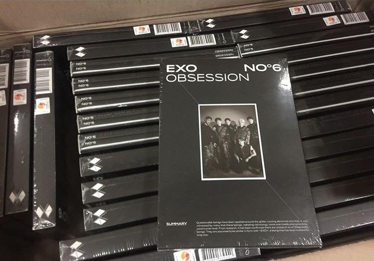 (select version) EXO - OBSESSION (6th Album) CD + POSTER