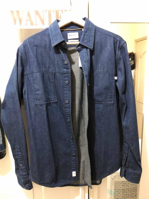 Timberland 男款深藍色River牛仔襯衫 M