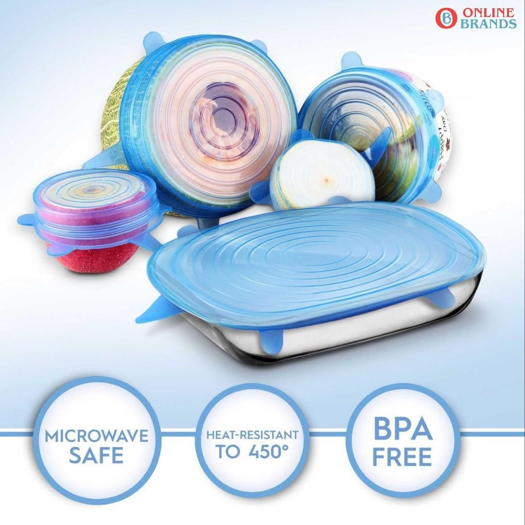 6pcs reusable stretchable cover for bowl, Free shipping in Canada | online brands