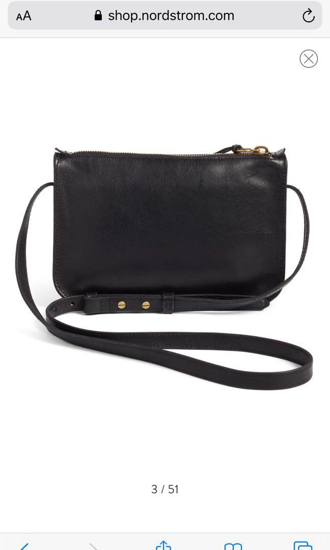 Brand New Black Madewell The Simple Crossbody Bag Purse Clutch