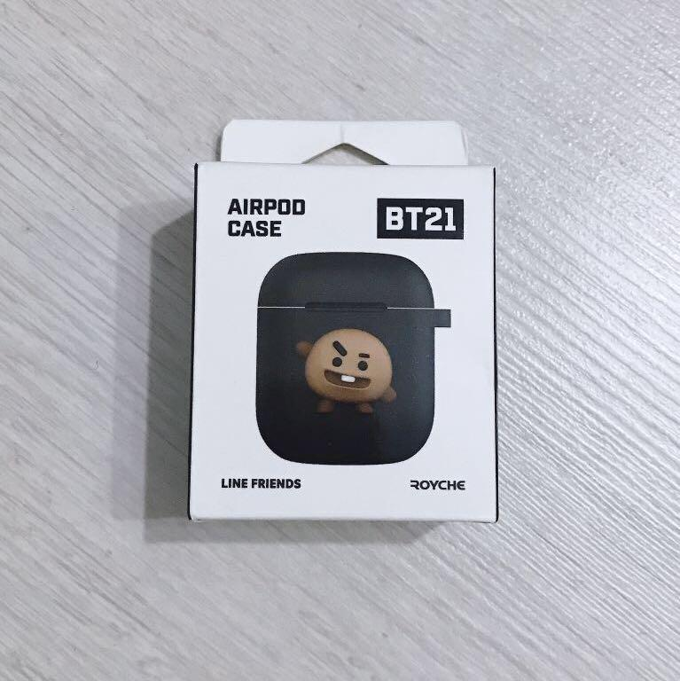 Official BT21 x Royche Shooky Airpods Case (Black)