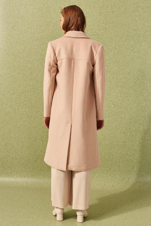 C/MEO COLLECTIVE COAT - New Tan Coat - Size Large (L) - RRP $289