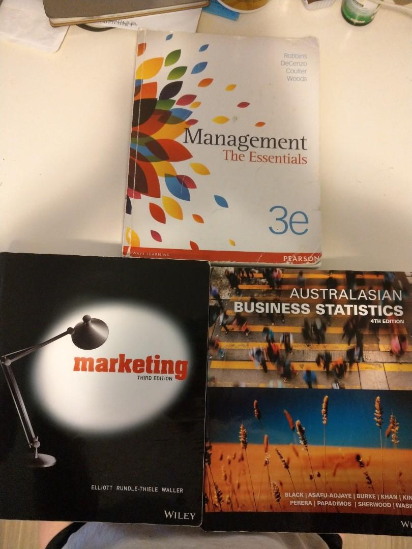 Management/Marketing/Business Statistics textbooks