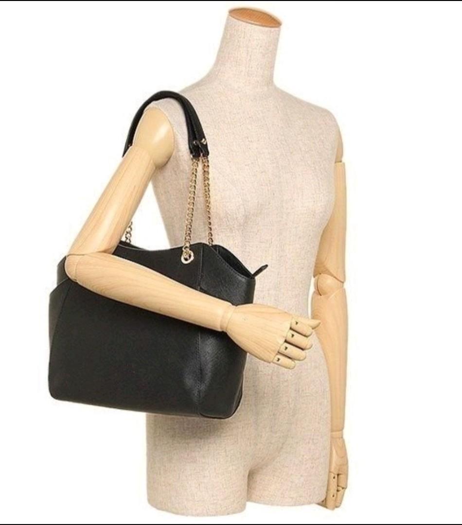 Mk 基本款時尚素面防刮十字紋皮革肩背雙側袋水餃包