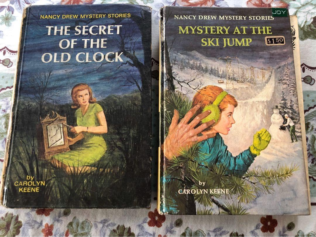 Nancy Drew  Mystery Stories -  Vintage  #1 The Secret of the Old Clock #29 Mystery at the Ski Jump