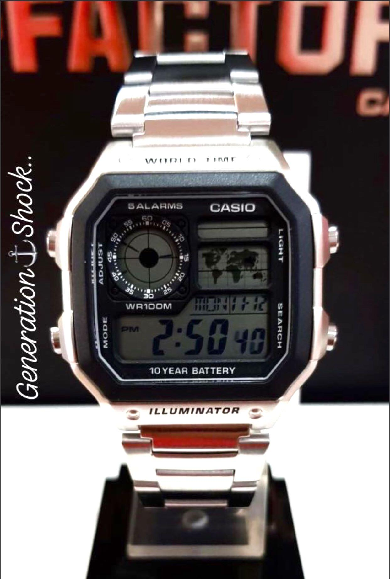 NEW🌟CASIO AVIATORS UNISEX DIVER SPORTS WATCH : 100% ORIGINAL AUTHENTIC : By BABY-G-SHOCK Company : AE-1200WHD-1A / Designed By GSHOCK: DW-5600-1 series