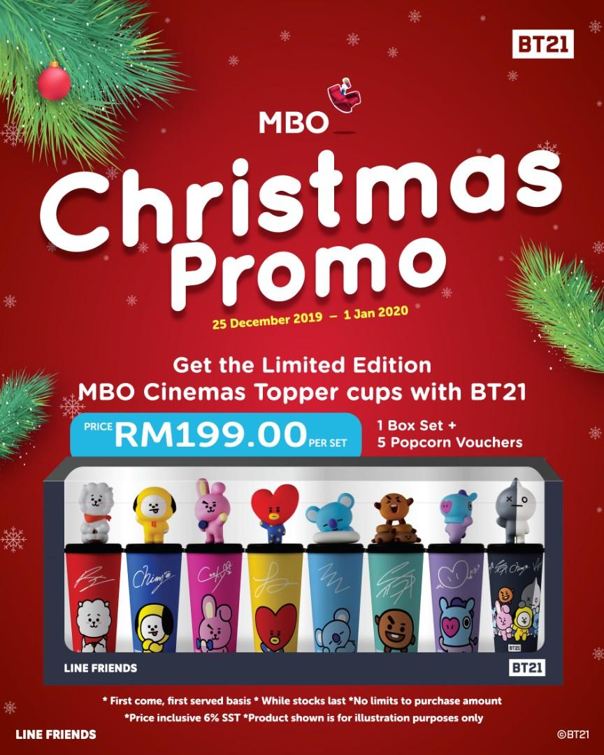 [PREORDER] MBO Malaysia x BT21 Limited Edition Topper Cup Shopping Service (25/12/19-1/1/20) > Christmas Promo!