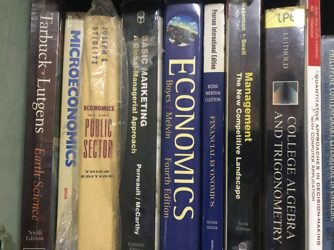 Random College Books (Economics, Business, Marketing, Management, Literature)