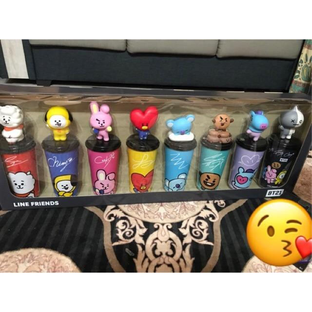 [READY STOCK DISCOUNT] BT21 BTS MBO TUMBLER TOPPER CUP SET (REGULAR+LIMITED DESIGN)