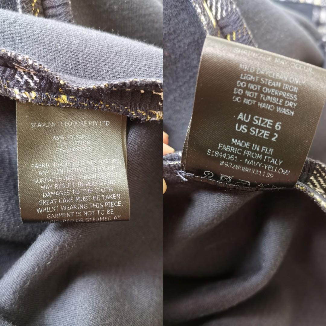 Scanlan Theodore Plaid Ruffle Dress - Size 6 RRP $600